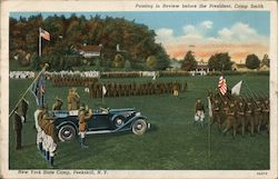 Passing in Review before the President, Camp Smith - New York State Camp Postcard