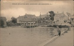 Pavilion and Bathing Beach, Manahawkin Lake