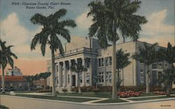 Charlotte County Court House Postcard