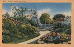 Mill Chutes, A Popular Ride with Pleasure Seekers Postcard