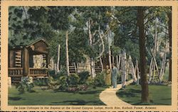 Cottages in the Aspens at the Grand Canyon Lodge, Kaibab Forest Postcard