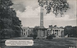 Confederate Monument and Central and Hampton Grade Schools
