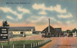 Main Gate, Camp Claiborne Postcard