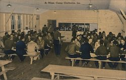 At Mess, Camp Claiborne Postcard