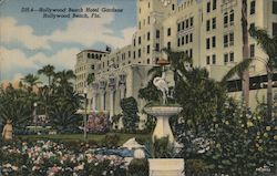 Hollywood Beach Hotel Gardens Postcard
