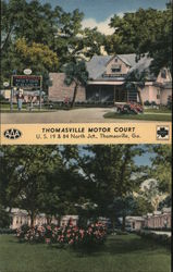 Thomasville Motor COurt Postcard