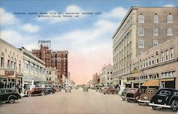 Looking North From 10th St., Showing Indiana Ave. Postcard