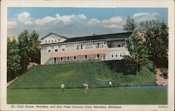Club House, Petoskey and Bay View Country Club Postcard