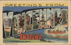 Greetings from Vincennes, Indiana Postcard