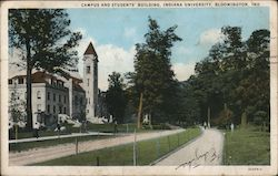 Campus and Students' Building, Indiana University Postcard