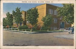 Central High School Building Postcard