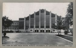 End View of New Field House, Purdue University Postcard