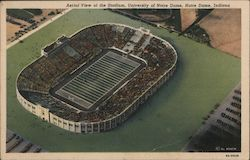 Aerial View of Stadium, University of Notre Dame Postcard