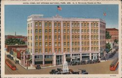 Hotel Como, Hot Springs National Park Postcard