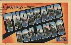 Greetings from Thousand Islands, N.Y. Postcard