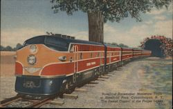 Roseland Pacemaker Miniature Train at Roseland Park Postcard