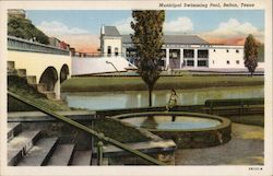 Municipal Swimming Pool Postcard