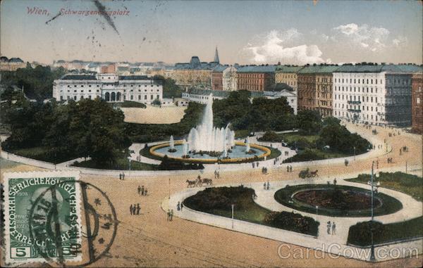 Schwarzenbergplatz Wien Austria Postcard