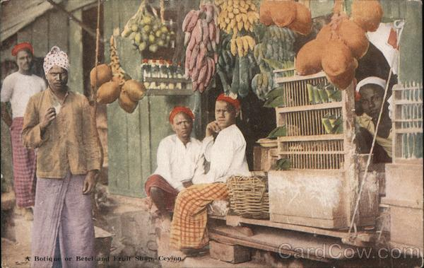 Botique or Betel and Fruit Stall Sri Lanka Southeast Asia