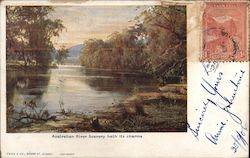 Australian river scenery hath its charms Postcard