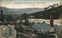 New Golden Gate Gold Mine, N.E. Coast Tasmania Postcard