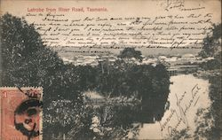 View of Town from Mersey River Road Postcard