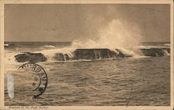 Breakers at The Bluff, Durban Postcard