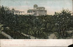 Garden With View of the Race Track Postcard
