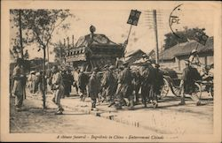 A Chinese funeral-Begrabnis in China-Enterrement Chinois Postcard
