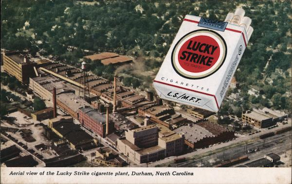 Aerial View of the Lucky Strike Cigarette Plant Durham North Carolina