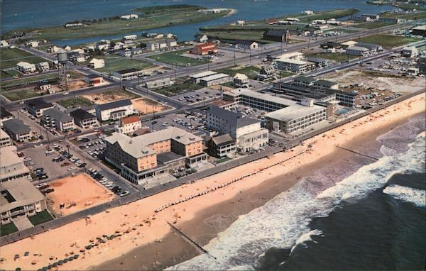 Aerial View of Bathing Beach in the Vicinity of 14th Street Ocean City Maryland
