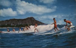 Surfing and Canoeing at Waikiki