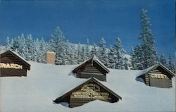 Monarch Crest Lodge in Mid Winter Postcard