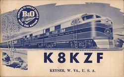 K8KZF - B&O Railroad, Linking 13 Great States With the Nation
