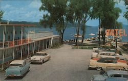 Lake Front Motel Postcard