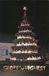 World-Famous Outdoor 'Singing Christmas Tree' Postcard
