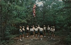 Salute to the Flag at Girl Scout Camp Edey