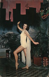 Paula Parsons as the White Goddess in Temboo Postcard