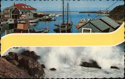 View of Waterfront and Ocean Postcard