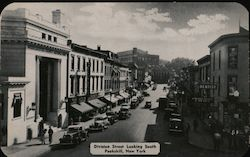 Division Street Looking South Postcard