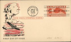 Air Mail-Postal Card, First Day of Issue