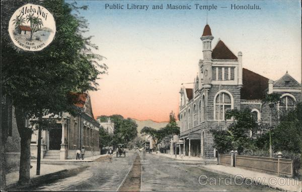 Public Library and Masonic Temple Honolulu Hawaii