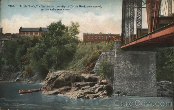 Little Rock After Which the City was Named, on the Arkansas River