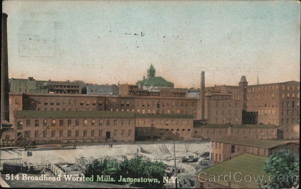 Broadhead Worsted Mills Jamestown New York