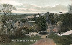 Village View Grand Pre, NS Canada Nova Scotia Postcard
