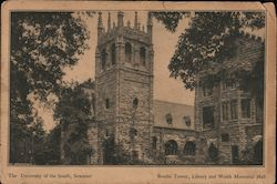 The University of the South, Breslin Tower, Library and Walsh Memorial Hall Postcard