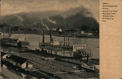 Monongahela River, Showing Coal Barges and Steamers