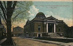 Public Library and Firelands Museum Building Postcard
