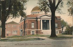 Public Library and Gilger Theatre Postcard