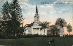 Congregational Church and Soldiers' Monument from Memorial Park